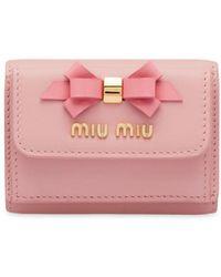 Miu Miu 三つ折り財布 - ピンク