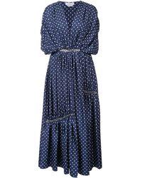 Gabriela Hearst Winston Polka Dot Dress - ブルー