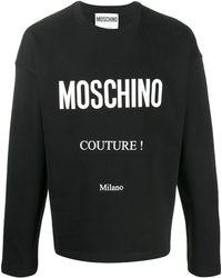 Moschino Sweat à logo imprimé - Noir