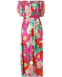 Cia.Marítima - Off-shoulder Floral Dress - Lyst