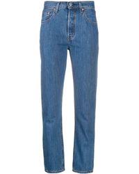 Levi's Jean crop 501 - Bleu