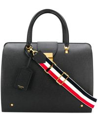 Thom Browne Pebbled Leather Mr. Thom Bag - ブラック
