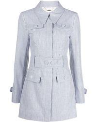 Alice McCALL ストライプ シャツドレス - ブルー