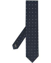 Ermenegildo Zegna Krawatte mit Stickerei - Blau