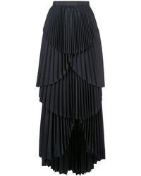 AMUR Ophelia プリーツスカート - ブラック