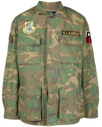 Ralph Lauren カモフラージュ クロップドジャケット - グリーン