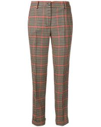 P.A.R.O.S.H. - Checked Cropped Trousers - Lyst