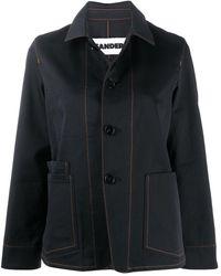Jil Sander Single-breasted Denim Jacket - Blue