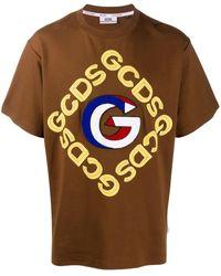 Gcds ロゴ Tシャツ - ブラウン