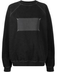 Maison Margiela オーバーサイズ スウェットシャツ - ブラック