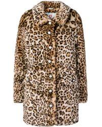 Shrimps - Faux-fur Leopard Coat - Lyst