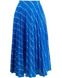 Chinti & Parker モノグラムプリント スカート - ブルー