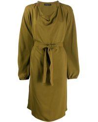 Fabiana Filippi Платье С Поясом - Зеленый