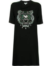 KENZO タイガー Tシャツワンピース - ブラック