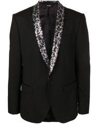 Dolce & Gabbana スパンコール シングルジャケット - ブラック