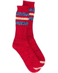 Thunders Love Chaussettes Outsiders à rayures - Rouge
