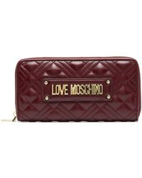 Love Moschino Logo-plaque Quilted Continental Wallet - Red