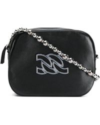Casadei Logo Embellished Mini Shoulder Bag - Black