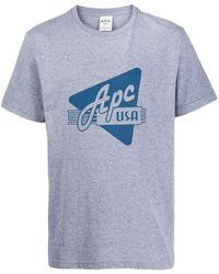 A.P.C. プリント Tシャツ - グレー