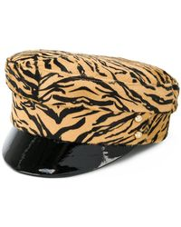 Manokhi - Tiger Print Police Hat - Lyst