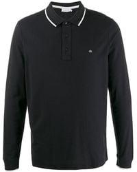 Calvin Klein CK logo polo shirt - Schwarz