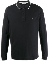 Calvin Klein Poloshirt Met Logo - Zwart