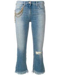 Elisabetta Franchi - Fringed Hem Jeans - Lyst