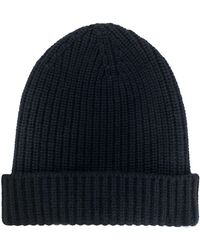 Cruciani Cashmere Knitted Hat - Blue
