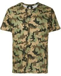 N°21 ロゴ入り 迷彩柄tシャツ - グリーン