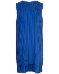 Victoria, Victoria Beckham - Robe droite à design plissé - Lyst