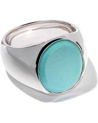 Tom Wood Oval Turquoise Ring - Metallic