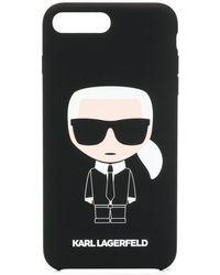 Karl Lagerfeld Iphone 8 Plus Hoesje - Zwart