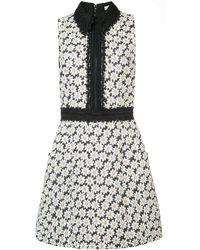 Alice + Olivia Ellis Embroidered Floral Dress - White