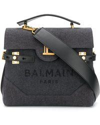 Balmain B-buzz 23 ハンドバッグ - ブラック