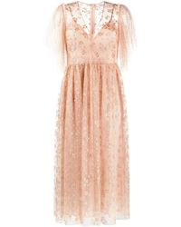 RED Valentino Crystal-embellished Tulle Dress - Multicolour