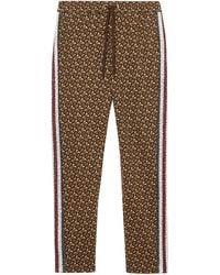 Burberry Marrows Logo Cotton Joggers - Brown