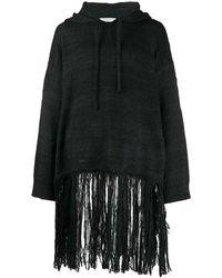Valentino - Fringed hooded jumper - Lyst