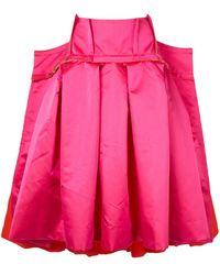Comme des Garçons オーバーサイズ プリーツスカート - ピンク