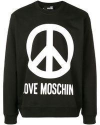 Love Moschino - Sweatshirt mit Logo-Print - Lyst