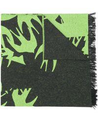 McQ プリント スカーフ - グリーン