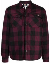 Dickies Construct Sacramento Check-pattern Sherpa-lined Jacket - Black