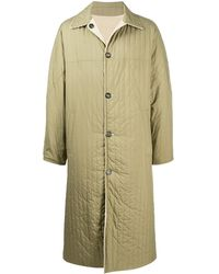 KENZO Reversible Corduroy Quilted Coat - Green
