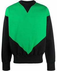 Bottega Veneta ジオメトリックパネル スウェットシャツ - ブラック