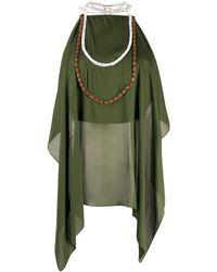 Jacquemus Блузка С Драпировкой - Зеленый