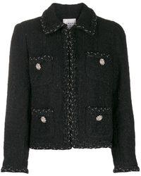 Edward Achour Paris Embroidered Fitted Blazer - Black