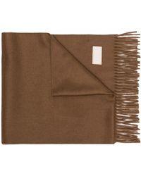 Agnona ロゴパッチ スカーフ - ブラウン