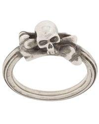 Werkstatt:münchen Symbol Skull リング - メタリック