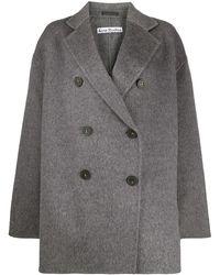 Acne Studios Двубортное Пальто - Серый