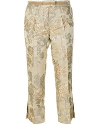 Christian Pellizzari - Floral Jacquard Tailored Trousers - Lyst