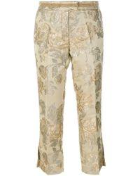 Christian Pellizzari - Floral Jacquard Tailored Trousers - Lyst